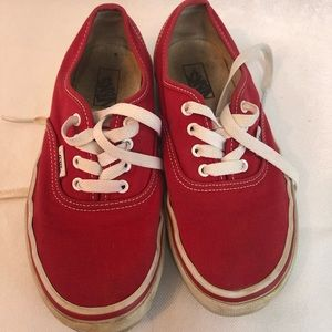 Child's size 3 red classic vans